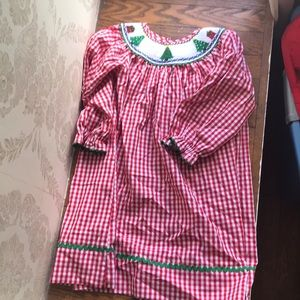 Other - Christmas Smocked Dress 4T Classic